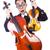 íj · hegedű · klasszikus · piros · fehér · mező - stock fotó © elnur