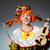clown in funny concept on dark background stock photo © elnur