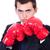 bokser · jonge · concurrerend · zakenman · geïsoleerd · witte - stockfoto © elnur