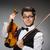 vicces · hegedű · játékos · hegedű · férfi · hang - stock fotó © elnur