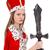 mulher · bonita · coroa · vermelho · casaco · isolado - foto stock © elnur