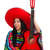 woman mexican guitar player on white stock photo © elnur