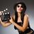 mulher · jovem · filme · conselho · branco · menina · arte - foto stock © elnur