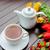 copo · fresco · chá · verde · vapor · manhã · tabela - foto stock © elnur