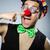 grappig · clown · donkere · partij · gelukkig · triest - stockfoto © elnur