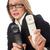 疲れ · 女性実業家 · 電話 · オフィス · 肖像 - ストックフォト © elnur
