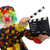 clown with movie clapper isolated on white stock photo © elnur