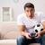 человека · компьютер · играх · Футбол · спорт · клавиатура - Сток-фото © elnur