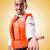 man in life jacket isolated on white stock photo © elnur