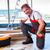 man laying laminate flooring in construction concept stock photo © elnur
