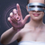 nő · kisajtolás · virtuális · gombok · futurisztikus · üzlet - stock fotó © elnur