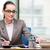 zakenman · kantoor · monitor · merkt · schrijven · werk - stockfoto © elnur