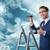 zakenman · hemel · business · handen · regen - stockfoto © elnur