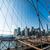 manhattan · linha · do · horizonte · ponte · New · York · City · EUA - foto stock © elnur