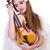 fiatal · hegedű · játékos · izolált · fehér · művészet - stock fotó © elnur