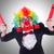 businessman clown isolated on white stock photo © elnur