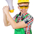 komik · tesisatçı · tamir · çamaşırhane · makine · adam - stok fotoğraf © elnur