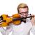 fiatal · vicces · hegedű · játékos · izolált · fehér - stock fotó © elnur