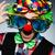 grappig · clown · donkere · glimlach · gelukkig · verjaardag - stockfoto © elnur