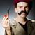 funny · soldado · militar · mano · hombre · verde - foto stock © elnur