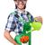 jóvenes · funny · jardinero · tulipanes · regadera · aislado - foto stock © elnur