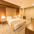 moderno · quarto · de · hotel · grande · cama · casa · projeto - foto stock © elnur