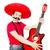 mexikói · gitáros · izolált · fehér · buli · gitár - stock fotó © elnur