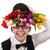 glimlachend · gentleman · bloemen · geïsoleerd · witte · bloem - stockfoto © elnur