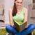 genç · kadın · okuma · beyaz · kitap · okul · çalışmak - stok fotoğraf © elnur