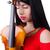 nő · játszik · hegedű · izolált · fehér · fa - stock fotó © elnur