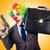 divertente · clown · gun · pistola · isolato · bianco - foto d'archivio © elnur