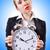 mulher · gigante · relógio · branco · negócio · escritório - foto stock © elnur