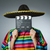 mexikói · férfi · kalap · szombréró · citromsárga · csíkok - stock fotó © elnur