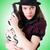 woman gangster with handgun on white stock photo © elnur