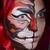 twarz · kobiety · malarstwo · ciemne · pokój · twarz · moda - zdjęcia stock © elnur