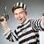engraçado · prisioneiro · prisão · homem · lei · bola - foto stock © elnur