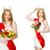 nő · szépség · vetélkedő · szem · arc · boldog - stock fotó © elnur