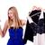 vásárló · választ · ruházat · gondolkodik · nő · néz - stock fotó © elnur