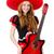 женщину · гитаре · изолированный · белый · музыку · вечеринка - Сток-фото © elnur