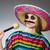 fille · moustache · portrait · belle · fille · isolé · blanche - photo stock © elnur
