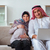young arab muslim family with pregnant wife expecting baby stock photo © elnur