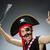 grappig · piraat · donkere · studio · hand · zwarte - stockfoto © Elnur