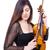 fiatal · nő · játszik · hegedű · fehér · nő · lány - stock fotó © elnur