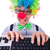 funny guy with clown wig on white stock photo © elnur