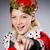 donna · corona · alla · moda · capelli · grigio · modello - foto d'archivio © elnur