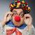 clown · grappig · donkere · muziek · man · triest - stockfoto © elnur