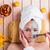 corpo · cuidar · bela · mulher · lama · máscara · branco - foto stock © elnur