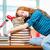 oberati · di · lavoro · donna · dormire · libri · ufficio - foto d'archivio © elnur