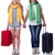 pair of young students travelling stock photo © elnur
