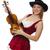 nő · hegedű · játékos · izolált · fehér · fa - stock fotó © elnur